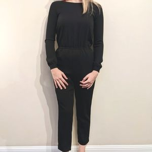 WILFRED Stunning Black Jumpsuit with Keyhole Back